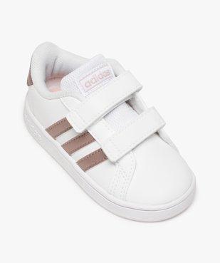 Baskets bébé fille à scratch Grand Court Adidas vue5 - ADIDAS - Nikesneakers
