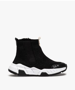 Baskets fille montantes style chaussettes - LuluCastagnette vue1 - LULU CASTAGNETT - Nikesneakers
