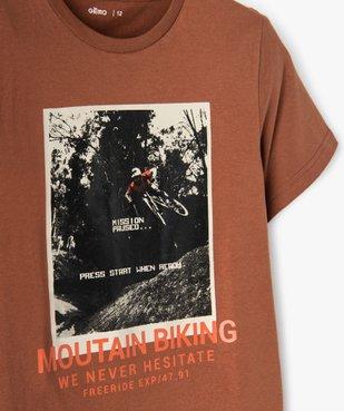 Tee-shirt garçon à manches courtes et grand motif vue3 - GEMO (JUNIOR) - GEMO