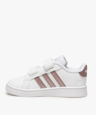 Baskets fille à scratch Grand Court Adidas vue3 - ADIDAS - Nikesneakers