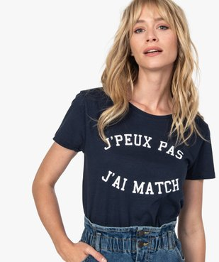 Tee-shirt femme à manches courtes imprimé football vue2 - Nikesneakers(FEMME PAP) - Nikesneakers