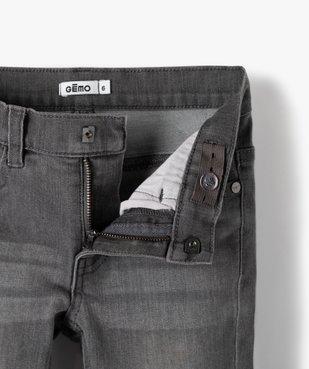 Jean garçon coupe Slim contenant du polyester recyclé vue3 - GEMO C4G GARCON - GEMO
