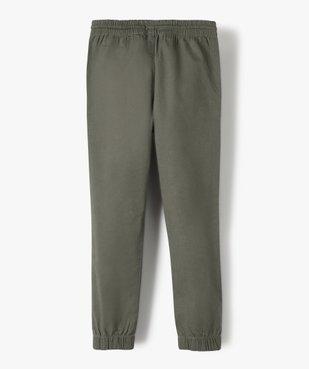 Pantalon garçon avec taille et chevilles élastiquées vue5 - GEMO (ENFANT) - GEMO