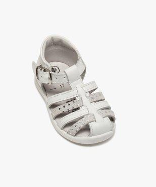 Sandales premiers pas bébé fille à brides en cuir vue5 - Nikesneakers(BEBE DEBT) - Nikesneakers