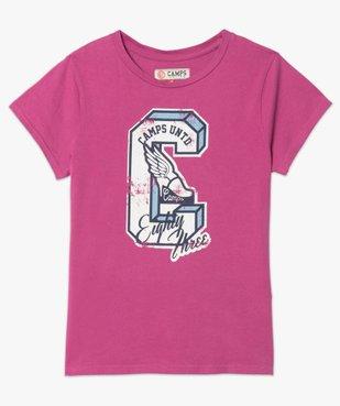 Tee-shirt femme à manches courtes et motif patiné - CAMPS vue4 - CAMPS UNITED - GEMO
