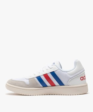 Tennis femme tricolores à lacets – Adidas Hoops 2.0 vue3 - ADIDAS - Nikesneakers
