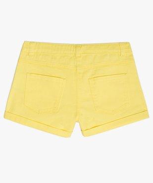 Short fille en coton extensible avec revers cousus vue4 - Nikesneakers (JUNIOR) - Nikesneakers