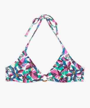 Haut de maillot de bain femme forme triangle avec anneau vue4 - GEMO (PLAGE) - GEMO