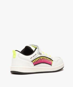 Baskets fille avec bandes colorées et touches fluo – LA Gear vue4 - L.A. GEAR - GEMO