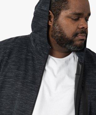 Sweat homme zippé à capuche et poches zippées vue2 - GEMO (G TAILLE) - GEMO