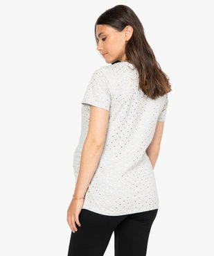 Tee-shirt de grossesse à plumetis brillants vue3 - GEMO (MATER) - GEMO