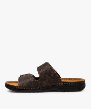 Sandales homme avec deux boucles sur le dessus vue3 - GEMO (CASUAL) - GEMO