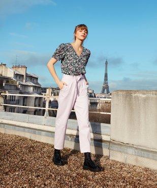 Pantalon femme taille haute - Lulu Castagnette vue6 - GEMO(FEMME PAP) - GEMO