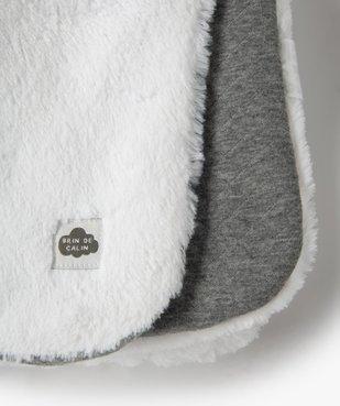 Plaid matelassé pour bébé en jersey doublé peluche vue2 - GEMO(BB COUCHE) - GEMO