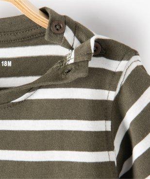 Tee-shirt bébé garçon à manches courtes avec motifs vue2 - GEMO C4G BEBE - GEMO