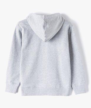 Sweat garçon à capuche avec fermeture zippée vue4 - GEMO (JUNIOR) - GEMO