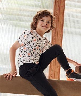 Tee-shirt garçon imprimé à manches courtes vue6 - GEMO (ENFANT) - GEMO