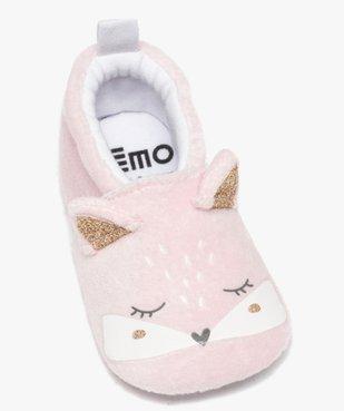 Chaussons de naissance bébé fille en velours chaton vue5 - GEMO C4G BEBE - GEMO