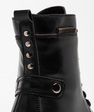 Boots femme unies à talon large et semelle crantée vue6 - Nikesneakers (CASUAL) - Nikesneakers