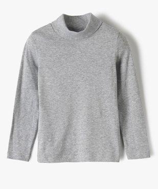 Tee-shirt garçon à manches longues et col montant vue1 - GEMO (ENFANT) - GEMO