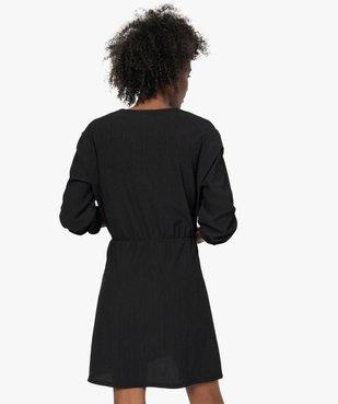 Robe femme à manches longues en maille texturée vue3 - GEMO(FEMME PAP) - GEMO