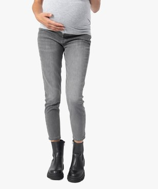 Jean de grossesse slim délavé à bandeau stretch taille haute vue1 - Nikesneakers (MATER) - Nikesneakers
