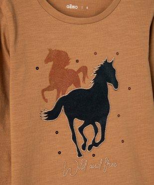 Tee-shirt fille à manches longues motif XXL vue3 - GEMO (ENFANT) - GEMO
