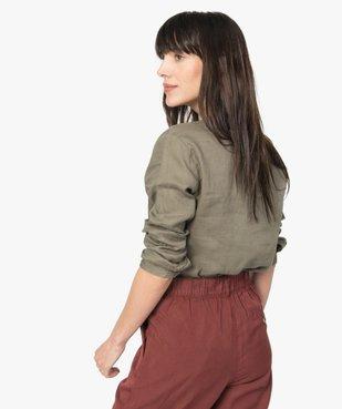Chemise femme en lin à manches retroussables vue3 - GEMO(FEMME PAP) - GEMO