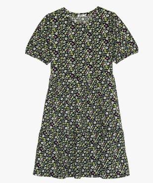 Robe fille à manches courtes en maille texturée vue1 - GEMO (JUNIOR) - GEMO