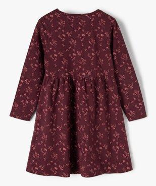 Robe fille à manches longues en maille à motifs fleuris vue3 - Nikesneakers C4G FILLE - Nikesneakers