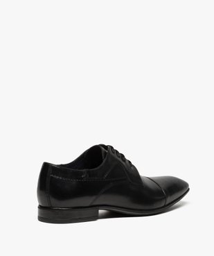Derbies homme dessus cuir à bout carré vue4 - Nikesneakers(URBAIN) - Nikesneakers