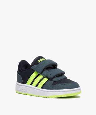 Baskets bébé garçon avec bandes fluo – Adidas Hoop 2.0 vue2 - ADIDAS - GEMO