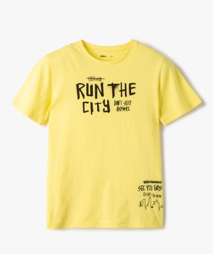Tee-shirt garçon à manches courtes imprimé streetwear vue1 - GEMO C4G GARCON - GEMO