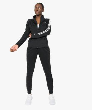 Sweat femme avec fermeture zippée - Adidas vue5 - ADIDAS - GEMO