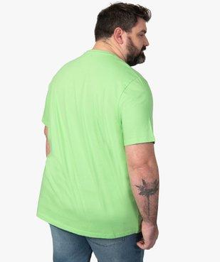 Tee-shirt homme avec macaron fantaisie vue3 - GEMO (G TAILLE) - GEMO