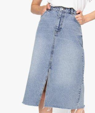 Jupe femme en jean longueur mollets – Lulu Castagnette vue2 - LULUCASTAGNETTE - GEMO