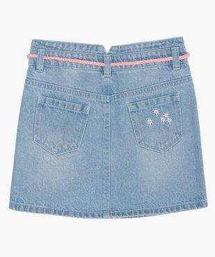 Jupe fille en jean avec pinces et ceinture – Lulu Castagnette vue5 - LULUCASTAGNETTE - GEMO