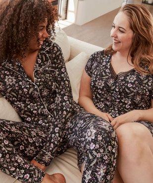 Pyjama femme deux pièces : chemise et pantalon vue6 - GEMO(HOMWR FEM) - GEMO