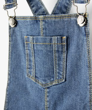 Robe fille en jean forme salopette vue2 - Nikesneakers C4G FILLE - Nikesneakers