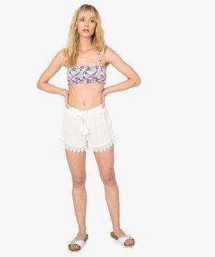 Short de plage femme avec finitions brodées vue5 - GEMO (PLAGE) - GEMO
