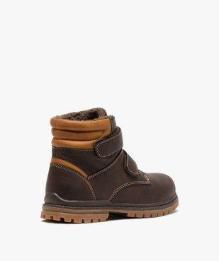 Boots garçon à scratch avec doublure et col rembourrés vue4 - Nikesneakers (ENFANT) - Nikesneakers