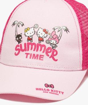 Caquette fille bi-matières avec motif sur l'avant – Hello Kitty vue2 - HELLO KITTY - Nikesneakers