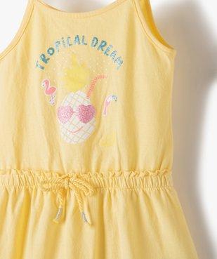 Robe bébé fille à bretelles effet 2-en-1 vue2 - GEMO(BEBE DEBT) - GEMO