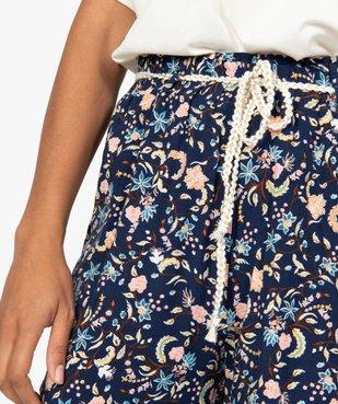 Pantalon femme ample et fluide à motifs vue2 - GEMO(FEMME PAP) - GEMO
