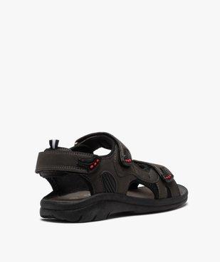 Sandales sport garçon à brides scratch vue4 - SANS MARQUE - GEMO