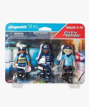 Jouet enfant équipe de policiers - Playmobil vue1 - DIVERS LICENCE - GEMO
