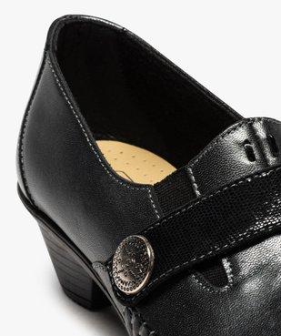 Escarpins femme confort à talon dessus cuir vue6 - GEMO (CONFORT) - GEMO