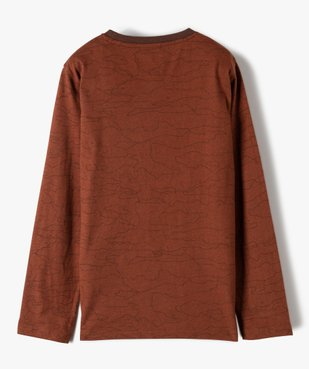 Tee-shirt garçon à manches longues imprimé vue3 - GEMO (JUNIOR) - GEMO