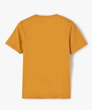 Tee-shirt garçon à manches courtes avec large motif vue3 - GEMO (JUNIOR) - GEMO