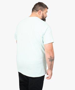 Tee-shirt homme avec motif palmiers à Miami vue3 - GEMO (G TAILLE) - GEMO